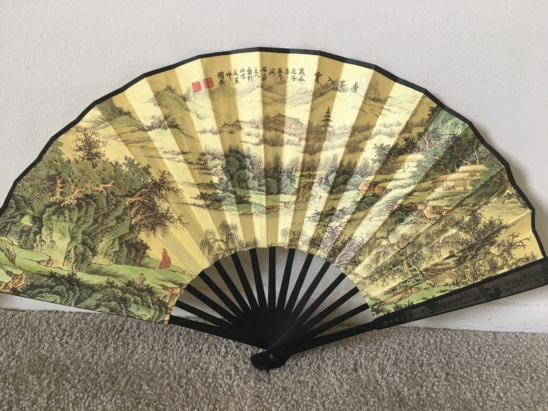 Authentic Men Bamboo Chinese Fan Best Gift
