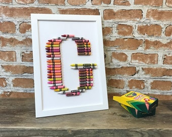crayon letter art any letter