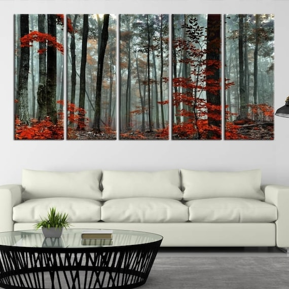 Beautiful Gothic Autumn Candles Giclee Canvas Picture Wall Decoration