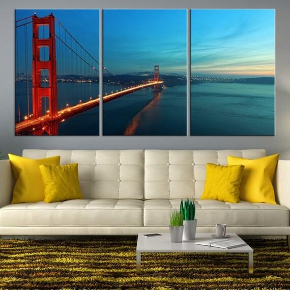 Golden Gate Bridge Wall Art Extra Large Wall Art San | Etsy