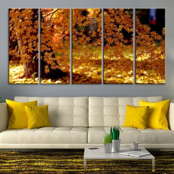 XLarge Autumn Wall Art Canvas Print Autumn Leaves Wall Art | Etsy