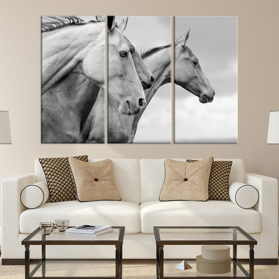 """24/""""x48/"""" Horses Running A Poster Home Decor HD Canvas Print Wall Painting Picture"""