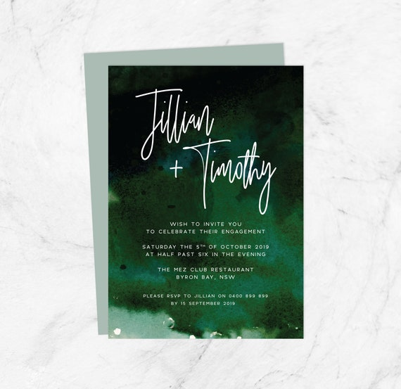 Affordable Engagement Invitation Template Instant Download Engagement Invite Printable Cheap Online Pdf Party Invite Diy Editable Cards