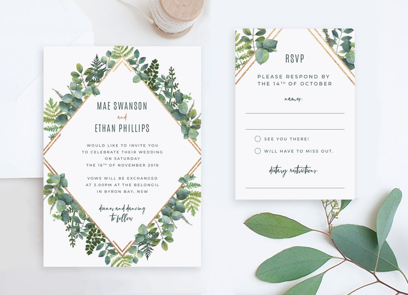 Cheap Wedding Invitations Online.Cheap Wedding Invitation And Rsvp Card Sets Diy Online Invite Kit Wedding Invite Packages Printable Wedding Suite Editable Templates