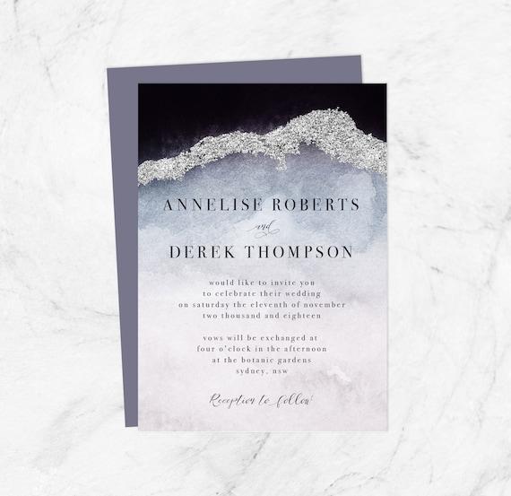 Modern Wedding Invitations Templates Diy Wedding Invites Cheap Geode Invites Printable Wedding Invite Template Editable Online Card Pdf