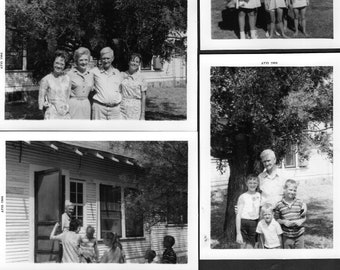 937b358c991e8 Vintage 1960s Summer FAMILY VISITS PHOTOS Lot/10 Grandma,Grandpa,Relatives, Kids,Mom,Dad Original Kodak Memories Folder,Baby Boomer Ephemera