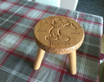 Hand carved Childrens stool