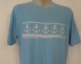 Vintage t shirt, 1980s t-shirt, anchor t shirt, Clear water Beach, nautical t shirt, islander shirts, vintage clothing, XL