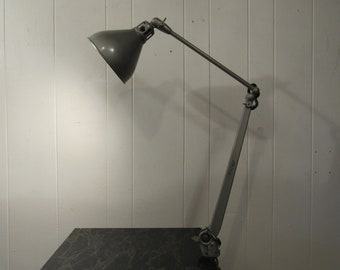 Vintage Desk Lamp Industrial Drafting Articulating 1950s
