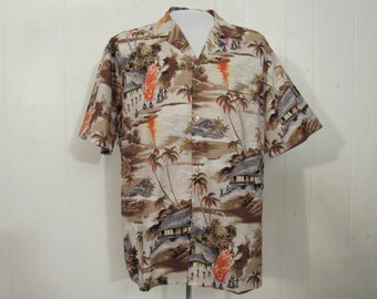 7714f9fc Vintage shirt, Hawaiian shirt, vintage Hawaiian shirt, Royal Creations,  vintage clothing, size large