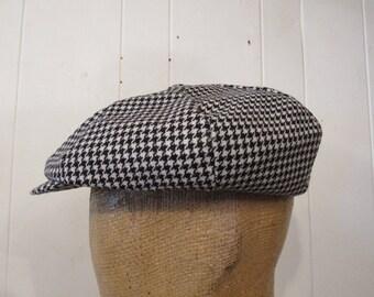 2f39b3fa Vintage hat, newsboy hat, newsboy cap, Gingham check hat, winner caps, New  York, small, medium, large, vintage clothing, NOS