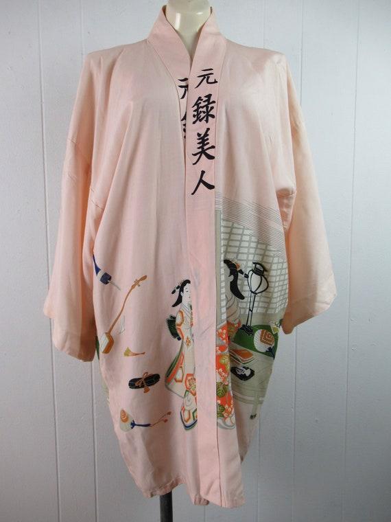 Vintage robe, kimono robe, silk robe, Asian robe,… - image 8