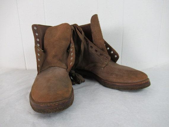 Vintage boots, 1940s boots, U.S.N boots, NXSX, lea
