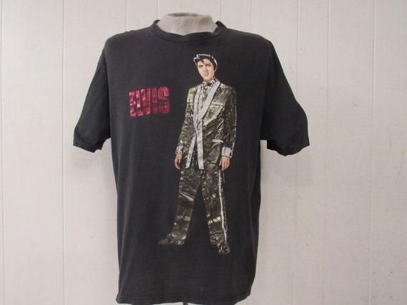 Vintage t shirt, Elvis t shirt, 1980s t shirt, 198
