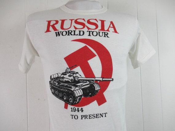 Vintage t shirt, Russia t shirt, 1980s t shirt, so