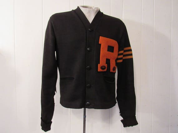 Vintage sweater, 1930s sweater, letterman sweater,
