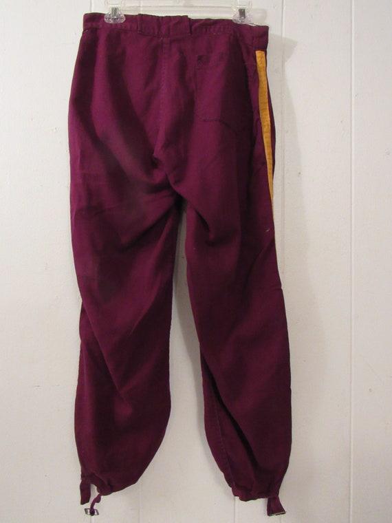 Pantalon vintage de baseball, uniforme vintage, pantalon de baseball, uniforme baseball uniforme, uniforme baseball, des années 1940, Texas Oil, Bethel Luth, moyenne 30