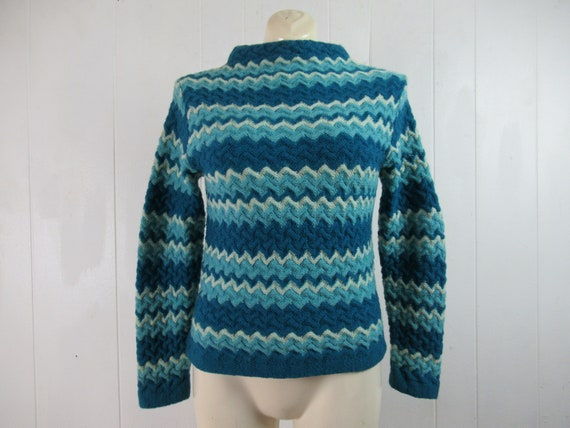 Vintage sweater, Jantzen sweater, blue sweater, st
