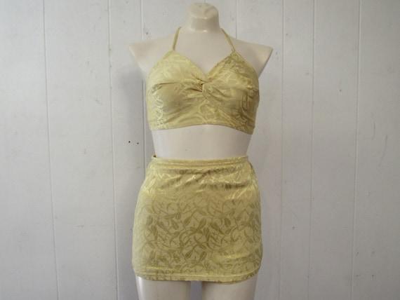 Vintage swimsuit, 1940s Bikini, pin up bikini, 2 p