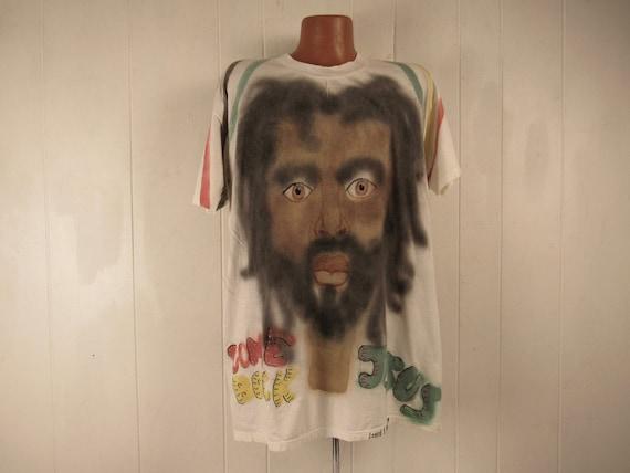 Vintage t shirt, outsider art t shirt, Jesus t shi