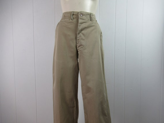 Vintage pants, 1950s, high waisted pants, khaki co