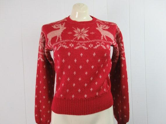 Vintage sweater, ski sweater, Jantzen sweater, 195