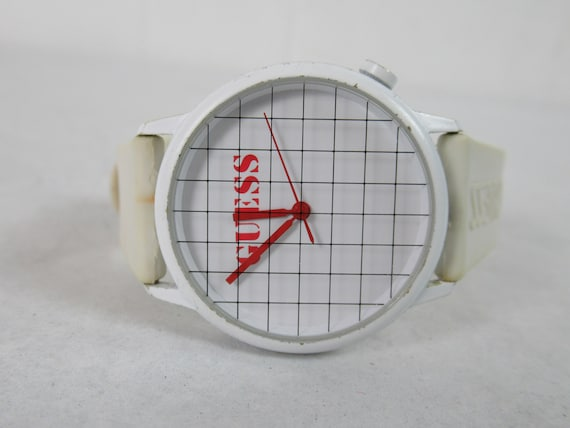 Vintage watch, Guess watch, 1990s watch, grid watc