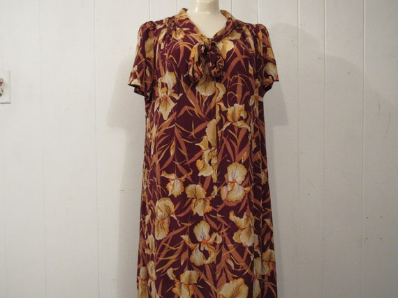 Vintage dress, 1930s dress, Rayon dress, Iris dres