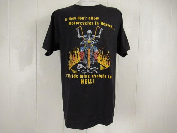 Vintage t shirt, 1980s t shirt, motorcycle t shirt