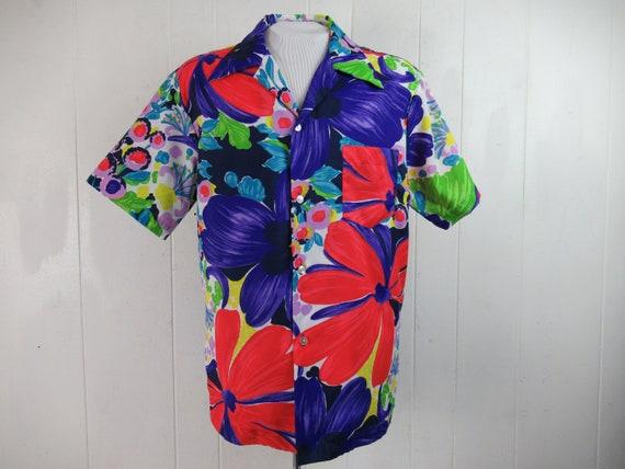 Vintage shirt, Hawaiian shirt, 1960s shirt, Hawaii