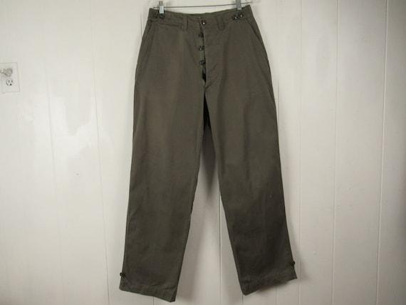 Vintage pants, 1940s pants, Army pants, cotton pan