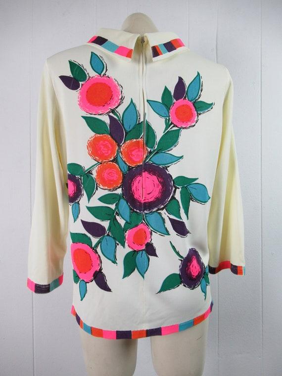Vintage Mr Dino shirt, vintage blouse, 1960s shir… - image 5