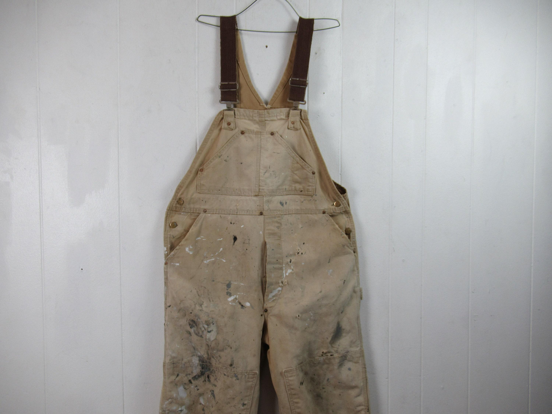 Vintage Overalls & Jumpsuits Vintage Overalls, Carhartt Brown Duck Painters Carhartt, Vintage Clothing, Workwear, Size 40 X 26 $0.00 AT vintagedancer.com