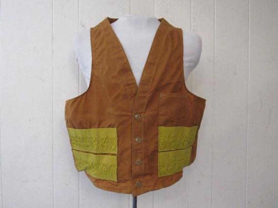 Vintage vest, hunting vest, vintage vesta, shotgun
