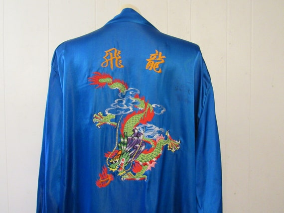 Vintage robe, Asian robe, silk robe, embroidered r