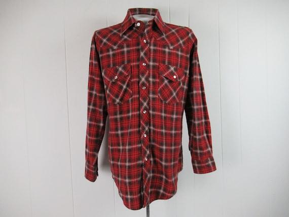 Vintage shirt, 1970s shirt, flannel shirt, cotton