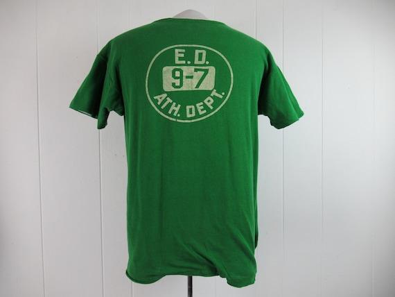 Vintage t shirt, reversible t shirt, school t shir