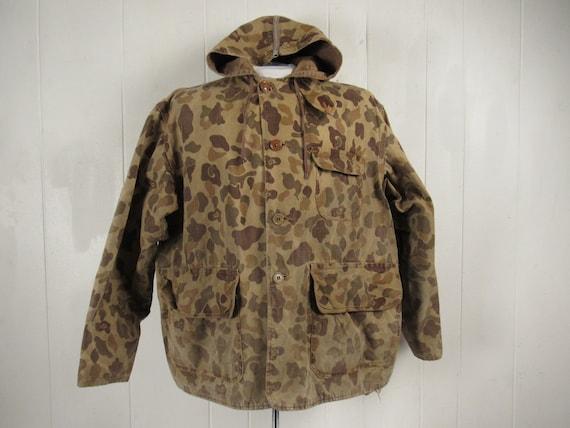 Vintage jacket, 1940s jacket, camo hunting jacket,