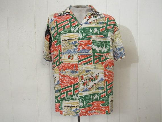 Vintage Hawaiian, 1950s Hawaiian shirt, Rayon Hawa