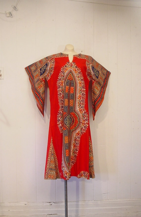 Festival Dresses, Vintage dress, cotton, Danshiki,