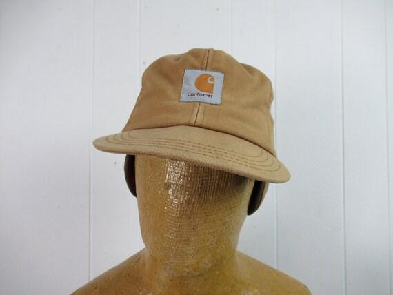 Vintage hat, Carhartt hat, vintage cap, brown duck