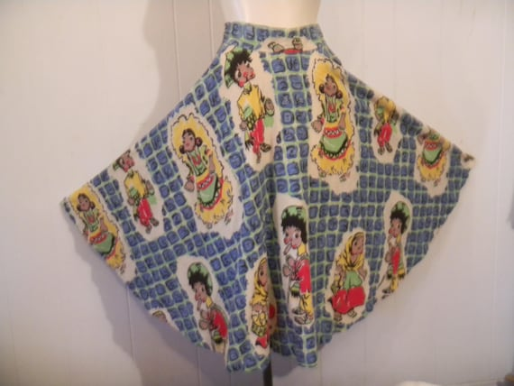 Vintage Skirt, Mexican skirt, full circle skirt, 1