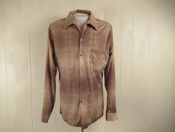 Vintage shirt, Disco shirt, vintage 1970s shirt, r