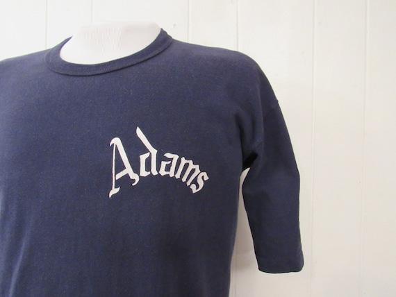 Vintage t shirt, 1960s t shirt, Adams t shirt, sch