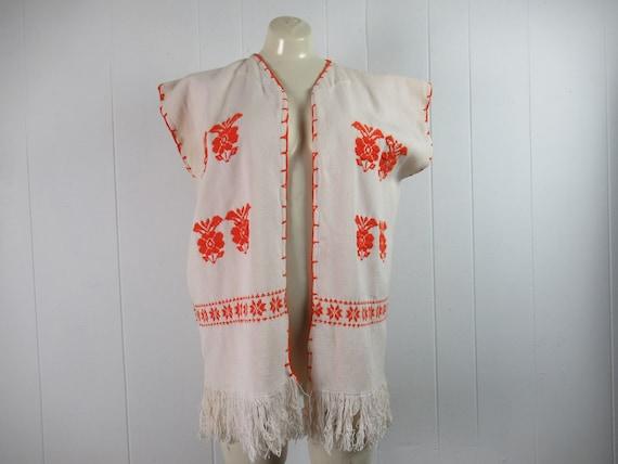 Vintage vest, ethnic vest, cotton vest, bohemian … - image 1