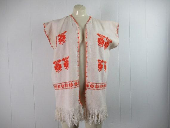 Vintage vest, ethnic vest, cotton vest, bohemian v