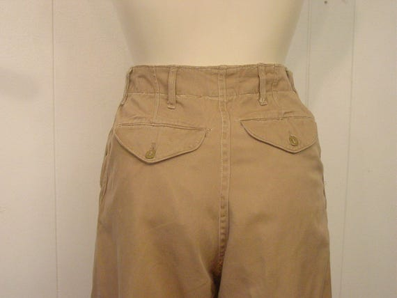 Vintage high waisted pants, khaki pants, Army pan… - image 2
