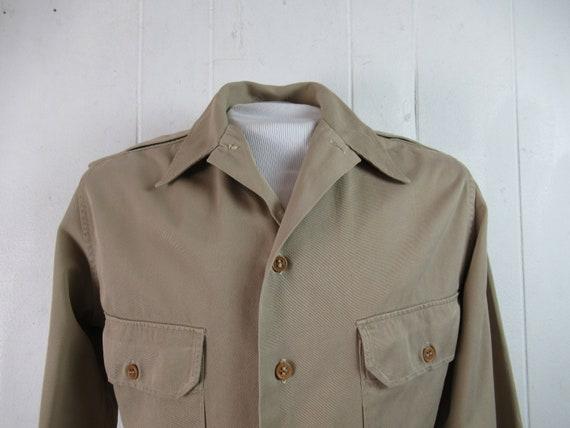Vintage shirt, 1940s shirt, military shirt, WWII … - image 2