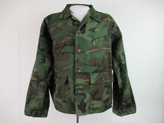 Vintage jacket, 1960s jacket , camouflage jacket,