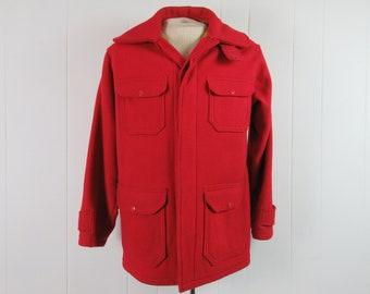 Vintage coat, hunting coat, hunting jacket, Woolrich coat, hunting coat, vintage clothing, 38